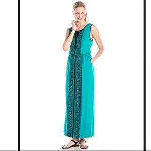 Adrianna Papell Womens Sleeveless Embroidered